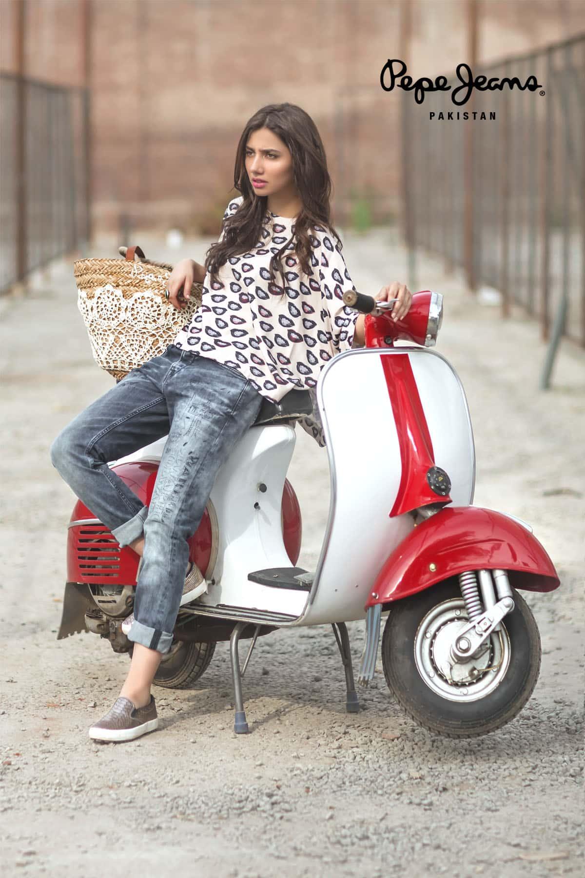 Mahira Khan for Pepe Jeans Pakistan Winter 2015 Campaign – #MKLovesPepe (9)